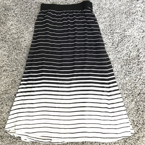 332ea5d2da12f9 Robert Lewis Skirts | Black White Sheer Long Dress Maxi Skirt | Poshmark